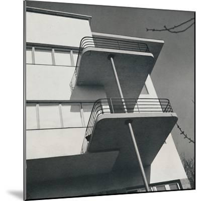 House for two families in Budapest, Romania, 1933-Unknown-Mounted Photographic Print