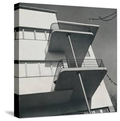 House for two families in Budapest, Romania, 1933-Unknown-Stretched Canvas Print