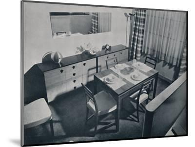 'View in the living-dining room designed by Gilbert Rohde', 1936-Unknown-Mounted Photographic Print