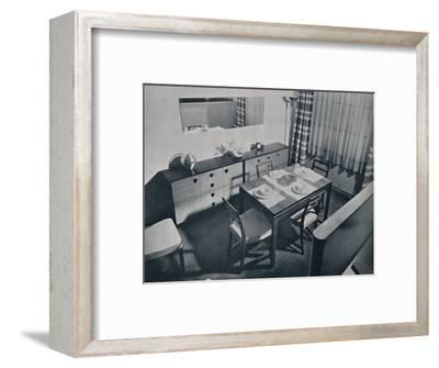 'View in the living-dining room designed by Gilbert Rohde', 1936-Unknown-Framed Photographic Print