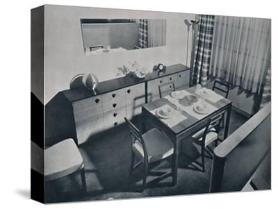 'View in the living-dining room designed by Gilbert Rohde', 1936-Unknown-Stretched Canvas Print
