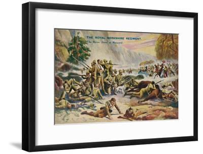 'The Royal Berkshire Regiment. The Heroic Stand at Maiwand', 1880, (1939)-Unknown-Framed Giclee Print