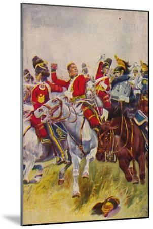 'The Royal Scots Greys. The Charge of the Greys at Waterloo', 1815, (1939)-Unknown-Mounted Giclee Print