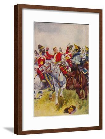 'The Royal Scots Greys. The Charge of the Greys at Waterloo', 1815, (1939)-Unknown-Framed Giclee Print