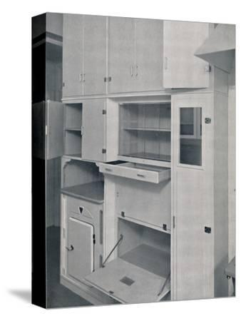 'Compactom Household Cupboard Units', 1936-Unknown-Stretched Canvas Print