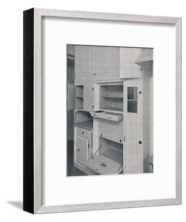 'Compactom Household Cupboard Units', 1936-Unknown-Framed Photographic Print