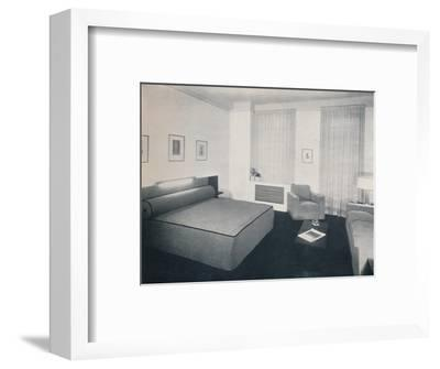 'A man's bedroom designed by Robert Heller Inc., New York', 1936-Unknown-Framed Photographic Print