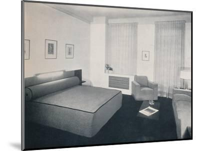 'A man's bedroom designed by Robert Heller Inc., New York', 1936-Unknown-Mounted Photographic Print