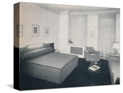 'A man's bedroom designed by Robert Heller Inc., New York', 1936-Unknown-Stretched Canvas Print