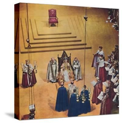 God crown you with a crown of glory and righteousness., 1953-Unknown-Stretched Canvas Print
