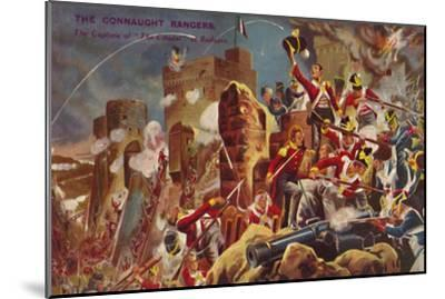 'The Connaught Rangers. The Capture of The Citadel at Badajoz', 1812, (1939)-Unknown-Mounted Giclee Print