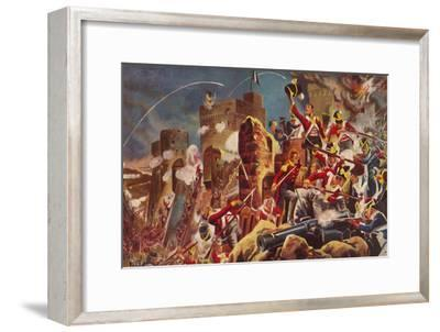 'The Connaught Rangers. The Capture of The Citadel at Badajoz', 1812, (1939)-Unknown-Framed Giclee Print