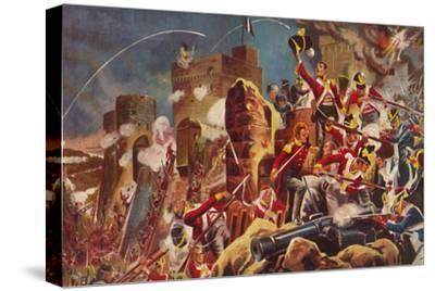 'The Connaught Rangers. The Capture of The Citadel at Badajoz', 1812, (1939)-Unknown-Stretched Canvas Print