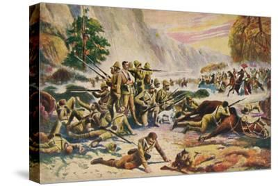 'The Royal Berkshire Regiment. The Heroic Stand at Maiwand', 1880, (1939)-Unknown-Stretched Canvas Print