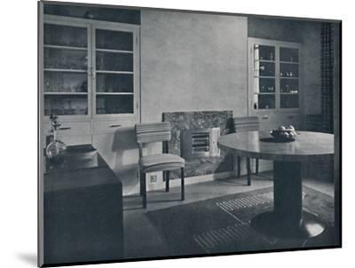 'Dining-room for a house in Highgate Village, London', 1936-Unknown-Mounted Photographic Print