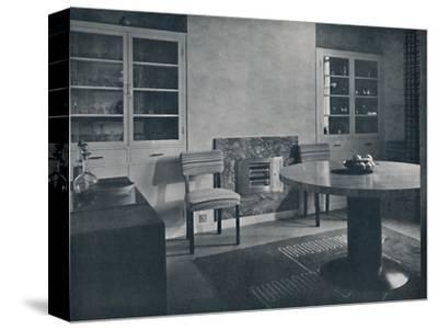 'Dining-room for a house in Highgate Village, London', 1936-Unknown-Stretched Canvas Print