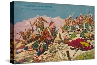 'The Gordon Highlanders. How Piper Findlater won the V.C. at Dargai', 1897, (1939)-Unknown-Stretched Canvas Print