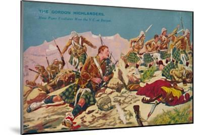 'The Gordon Highlanders. How Piper Findlater won the V.C. at Dargai', 1897, (1939)-Unknown-Mounted Giclee Print