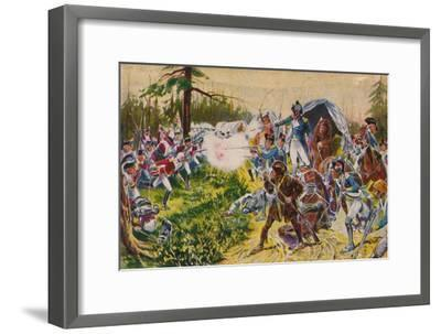 'The Duke of Cornwall's Light Infantry...at Brandywine', 1777, (1939)-Unknown-Framed Giclee Print