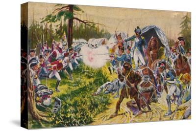 'The Duke of Cornwall's Light Infantry...at Brandywine', 1777, (1939)-Unknown-Stretched Canvas Print