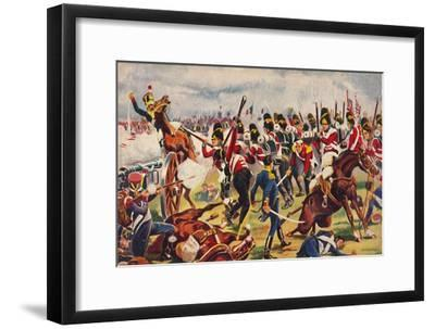 'The Sherwood Foresters. The Advance of The Sherwood Foresters at Salamanca', 1812, (1939)-Unknown-Framed Giclee Print