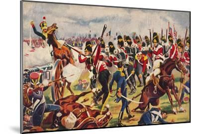 'The Sherwood Foresters. The Advance of The Sherwood Foresters at Salamanca', 1812, (1939)-Unknown-Mounted Giclee Print