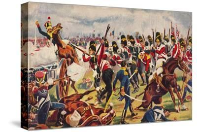 'The Sherwood Foresters. The Advance of The Sherwood Foresters at Salamanca', 1812, (1939)-Unknown-Stretched Canvas Print