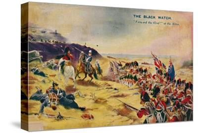 'The Black Watch. Forward the 42nd! at the Alma', 1854, (1939)-Unknown-Stretched Canvas Print