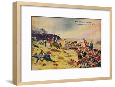 'The Black Watch. Forward the 42nd! at the Alma', 1854, (1939)-Unknown-Framed Giclee Print