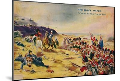 'The Black Watch. Forward the 42nd! at the Alma', 1854, (1939)-Unknown-Mounted Giclee Print