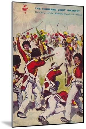 'The Highland Light Infantry. The Charge of the Mahratta Cavalry at Assaye', 1803, (1939)-Unknown-Mounted Giclee Print