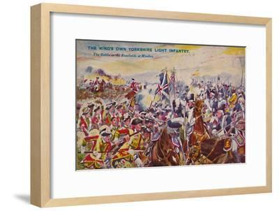 'The King's Own Yorkshire Light Infantry. The Battle in the Rosefields at Minden', 1759, (1939)-Unknown-Framed Giclee Print