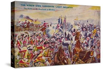 'The King's Own Yorkshire Light Infantry. The Battle in the Rosefields at Minden', 1759, (1939)-Unknown-Stretched Canvas Print