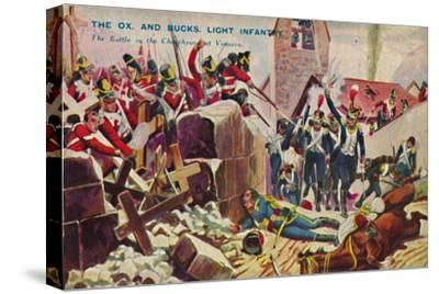 'The Ox. And Bucks. Light Infantry. The Battle in the Churchyard at Vimiero', 1808, (1939)-Unknown-Stretched Canvas Print