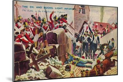 'The Ox. And Bucks. Light Infantry. The Battle in the Churchyard at Vimiero', 1808, (1939)-Unknown-Mounted Giclee Print