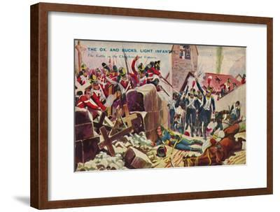 'The Ox. And Bucks. Light Infantry. The Battle in the Churchyard at Vimiero', 1808, (1939)-Unknown-Framed Giclee Print