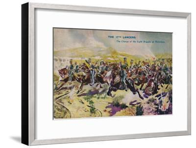 'The 17th Lancers. The Charge of the Light Brigade at Balaclava', 1854, (1939)-Unknown-Framed Giclee Print
