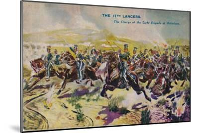 'The 17th Lancers. The Charge of the Light Brigade at Balaclava', 1854, (1939)-Unknown-Mounted Giclee Print