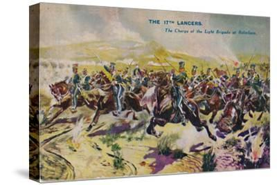 'The 17th Lancers. The Charge of the Light Brigade at Balaclava', 1854, (1939)-Unknown-Stretched Canvas Print
