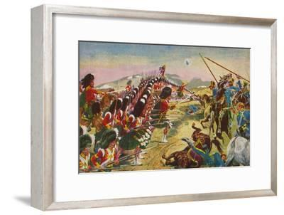 'The Argyll & Sutherland Highlanders. The Thin Red Line at Balaclava', 1854, (1939)-Unknown-Framed Giclee Print