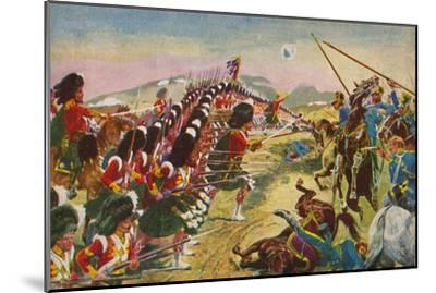 'The Argyll & Sutherland Highlanders. The Thin Red Line at Balaclava', 1854, (1939)-Unknown-Mounted Giclee Print