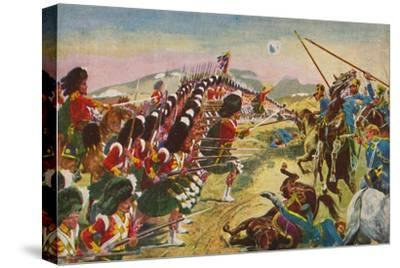 'The Argyll & Sutherland Highlanders. The Thin Red Line at Balaclava', 1854, (1939)-Unknown-Stretched Canvas Print