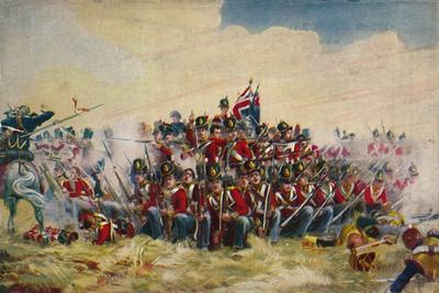 'The Royal Scots. The Square at Quatre Bras', 1815, (1939)-Unknown-Framed Giclee Print