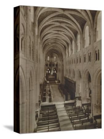 'Buckfast Abbey Church (Interior)', late 19th-early 20th century-Unknown-Stretched Canvas Print