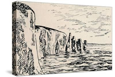 'Old Harry Rocks', 1929-Unknown-Stretched Canvas Print