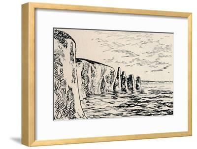 'Old Harry Rocks', 1929-Unknown-Framed Giclee Print