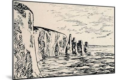 'Old Harry Rocks', 1929-Unknown-Mounted Giclee Print