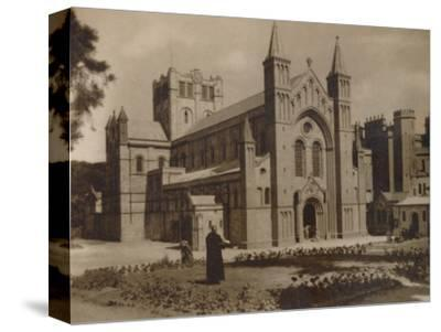 'Buckfast Abbey Church,' (N.W)', late 19th-early 20th century-Unknown-Stretched Canvas Print