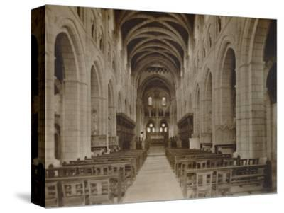 'Buckfast Abbey Church, (Interior)', late 19th-early 20th century-Unknown-Stretched Canvas Print