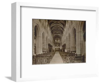 'Buckfast Abbey Church, (Interior)', late 19th-early 20th century-Unknown-Framed Photographic Print